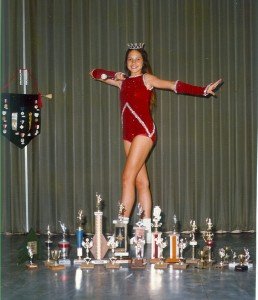 Junior High with some of my trophies